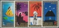 Samoa SG417-20 Christmas 1973 set of 4