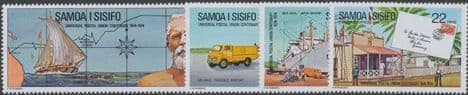 Samoa SG430-3 Centenary of Universal Postal Union set of 4