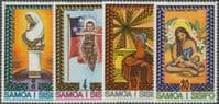 Samoa SG454-7 Christmas 1975 set of 4