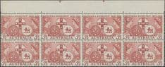 SG 289 ACSC 331b. 3½d Brown-Lake Centenary of Responsible Government block of 8 (AE1/102)