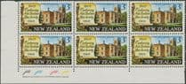 SG 894 3c Centenary of New Zealand Law Society plate block of 6 (NF1/170)