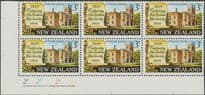 SG 894 3c Centenary of New Zealand Law Society plate block of 6 (NF1/172)