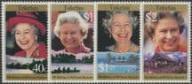 TOK SG240-3 Queen's 70th Birthday 1996 set of 4