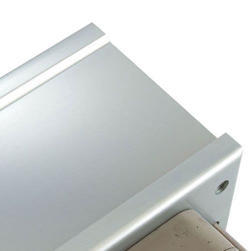 Intumescent Fire - Smoke & Acoustic Rated Telescopic Letter Box System 12 inch Satin Anodised Alumin