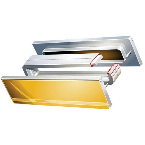 Intumescent Fire & Smoke Rated Telescopic Letter Box System 12 inch Gold Anodised