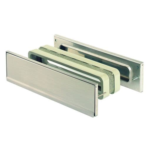 Intumescent Fire & Smoke Rated Telescopic Letter Box System 12 inch Stainless Steel