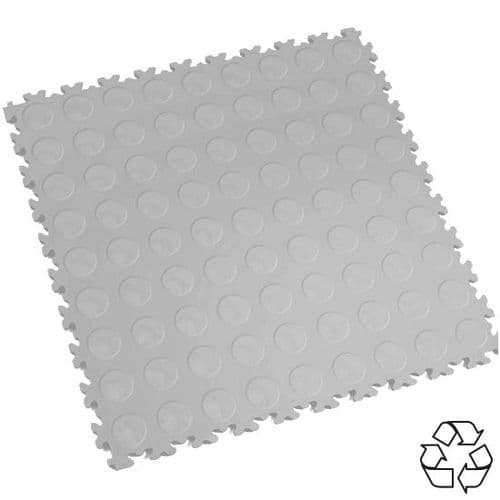 MotoLock HD Recycled PVC Interlocking Tiles (Light CoinTop)