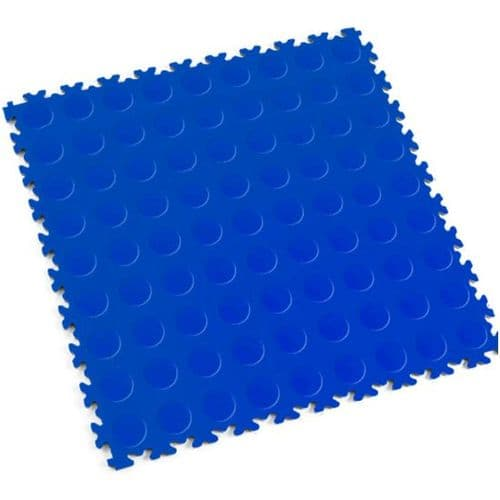 MotoLock Heavy Duty Interlocking Tiles (Blue CoinTop)