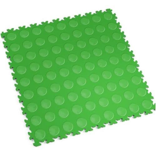 MotoLock Heavy Duty Interlocking Tiles (Light Green CoinTop)