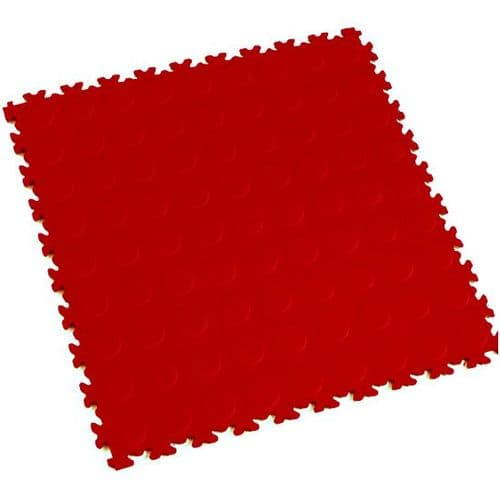 MotoLock Heavy Duty Interlocking Tiles (Red CoinTop)