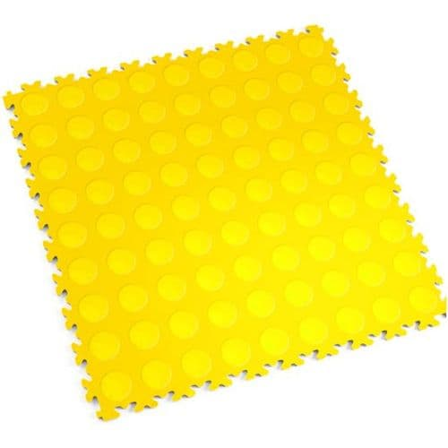 MotoLock Heavy Duty Interlocking Tiles (Yellow CoinTop)