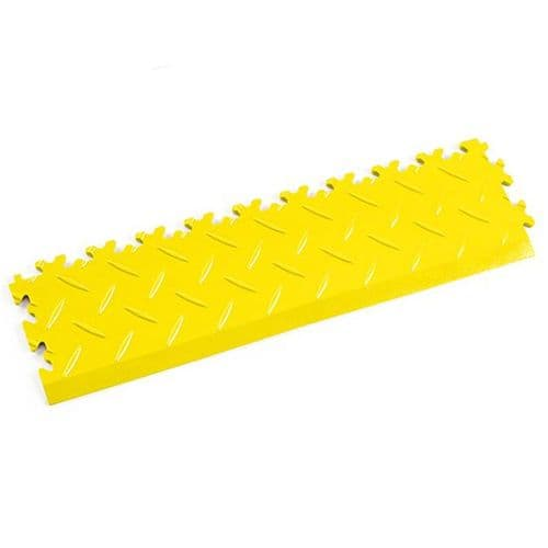 MotoLock Interlocking Tile Edging (Yellow Diamond-plate)