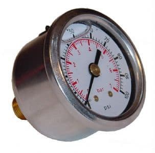 Sytec Fuel Injection Pressure Gauge - Glycerin Filled, FPG002