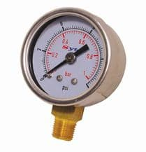 Sytec Fuel Pressure Gauge - Carburettor 0-15psi, FPG001