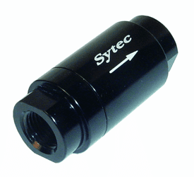 SYTEC ONE WAY VALVE WITH 1/8 NPTF FEMALE CONNECTION (BLACK) OWVS000-BK