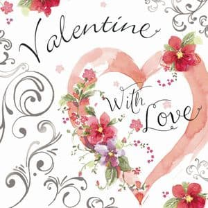 TVAL10 - Valentines Day Card For Her or For Him
