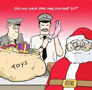 TW289 – Merry Christmas Card Airport Security