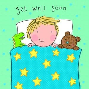 TW501 – Childrens Get Well Soon Card For Boy
