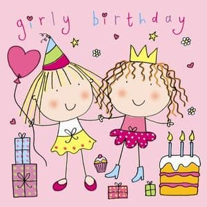 TW617 – Girly Birthday Card