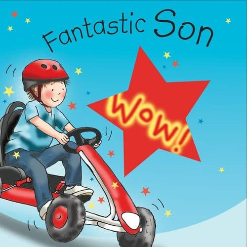 TW656 - Birthday Card For Son Go Kart