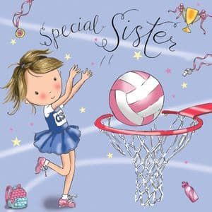 TW682 - Birthday Card For Sister Netball