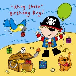 TW746 – Ahoy There Birthday Boy Card