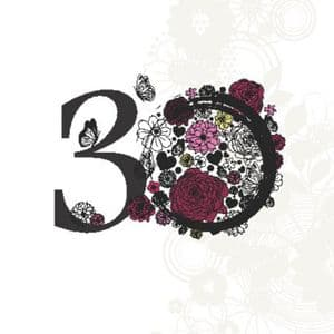 Age 30 Elegant Birthday Card 132