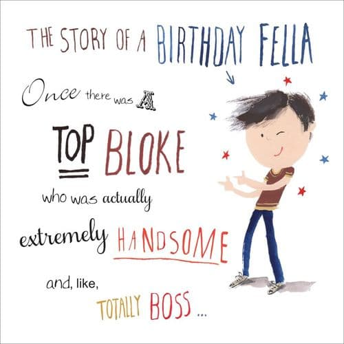 Birthday Card For a Top Bloke