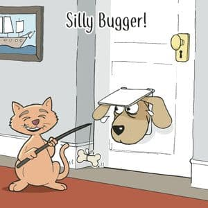 CAN110  Funny Dog & Cat Card