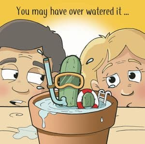 CAN117  Funny Birthday Card Cactus