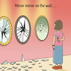 CAN119  Mirror Mirror Funny Card For Her