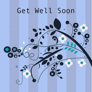Get Well Soon Card - Stripes