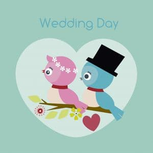 On Your Wedding Day Card - Lovebirds