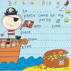 Pirate Children's Party Invitation