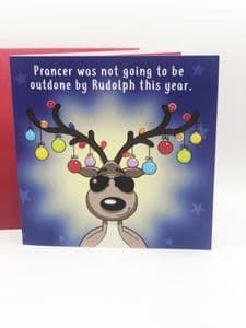 Prancer Won't Be Outdone Personalised