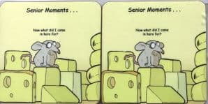 Senior Moments Set of Four Funny Table Coasters