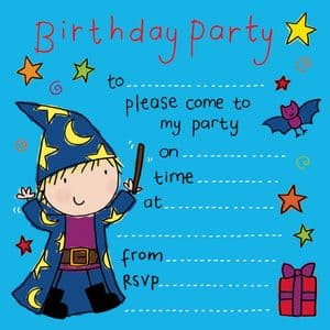 Wizard Kids Party Invitation
