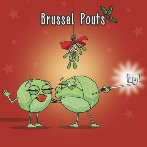 XMAS15 – Brussel Pouts Merry Christmas Card